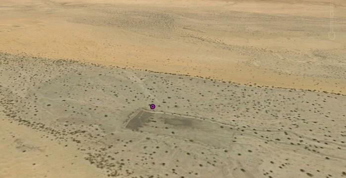 """Google virtuālās kartes """"ainava"""" Fejas atrašanās vietā Čadā."""